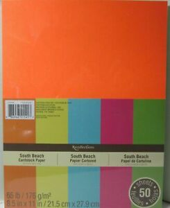 Recollections-Cardstock-Carta-8-1-5-1cm-x-27-9cm-50-Fogli-29-5kg-5-Colore-Sud