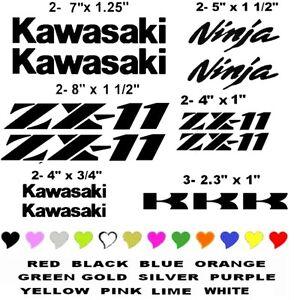 KAWASAKI ZX-11 STICKER DECAL NINJA  MOTORCYCLE RACING   ANY COLOR zx11r