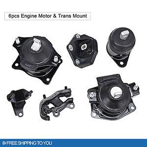 6pcs engine motor trans mount set for 03 07 honda accord 3 for 07 honda accord v6