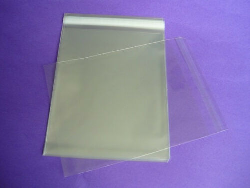 50 8.75 x 11.25 Clear Resealable Cello Bag Plastic Envelopes Cellophane Sleeves