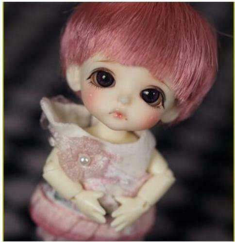 BJD MUÑECA RECAST Free shipping 1 12 BJD doll white line Belle with eyes cut
