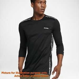NIKE SPORTSWEAR AIR MAX 2018 - 3/4 SLEEVE TRAINING SHIRT TOP 100% COTTON SMALL