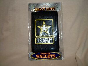 Wallet With the United States Army Emblem Embroidered Onto It