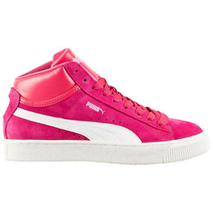 puma mid damen sneaker pink hohe high schuhe leder retro. Black Bedroom Furniture Sets. Home Design Ideas