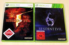 2 Xbox 360 juegos colección residente Evil 5 & 6-USK 18 Shooter Uncut