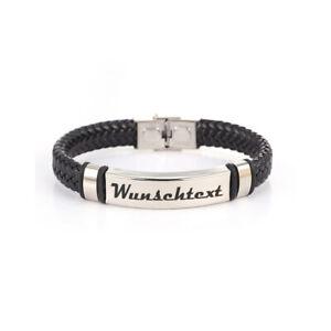 Armband-mit-Wunschtext-Wunschgravur-Armband-Edelstahl-Kunstleder