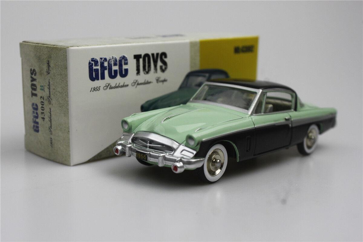 1 43  GFCC TOYS  Studebaker Speedster-Coupe vert modèle de voiture1955