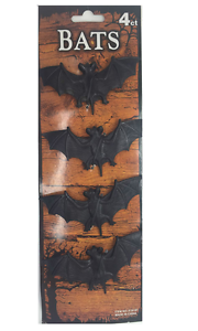 HALLOWEEN PARTY WINDOW DECORATIONS  BATS