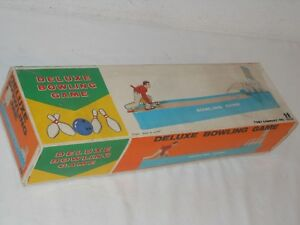 Tomy Japan Deluxe Bowling Game Automat FunktionsfÄhig Vintage Tintoy Ovp PüNktliches Timing
