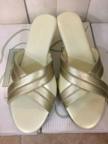 Daniel Green Lidia Pewter//Ivory Comfortable Cushioned Slippers 6W 6.5W