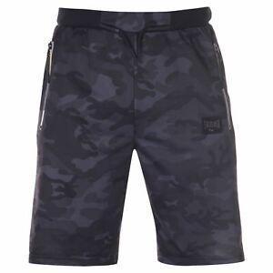 Everlast-Mens-Premier-Shorts-Woven-Pants-Trousers-Bottoms-Zip-Print-Drawstring