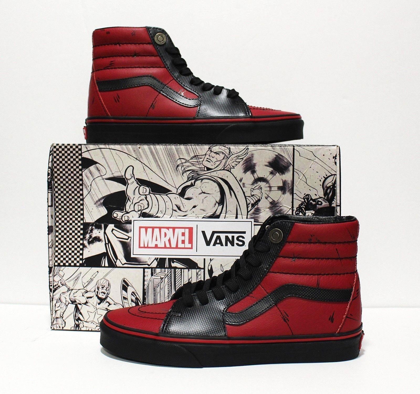 Vans X Marvel SK8 Hi Deadpool Black Men's Size 7.5 (Women's 9)