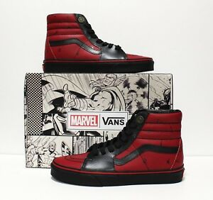 Vans X Marvel SK8 Hi Deadpool Black Men s Size 7 (Women s 8.5)  53f246d0b
