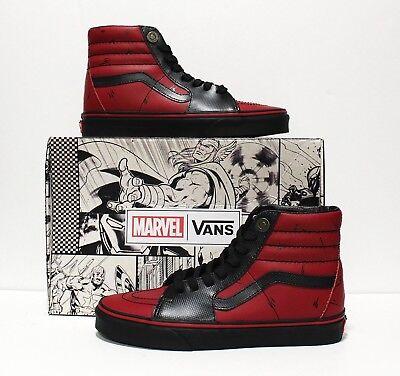 Vans X Marvel SK8 Hi Deadpool Black Men's Size:7 (Women's 8.5)   eBay