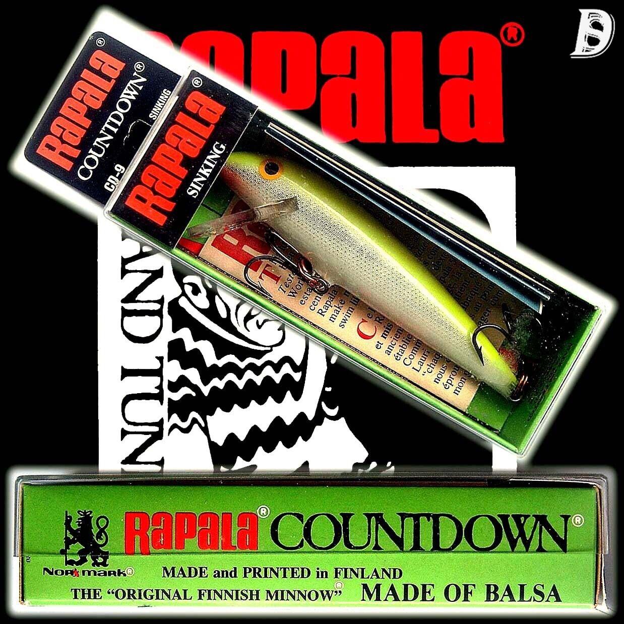 Vintage Rapala Countdown 9cm SFC Neu Neu Neu in Box Finnland wurde eingestellt 4fd826