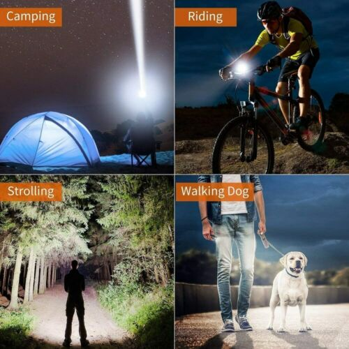 180000LM Powerful XHP70.2 LED Flashlight Rechargeable USB Zoomable Torch Lamp