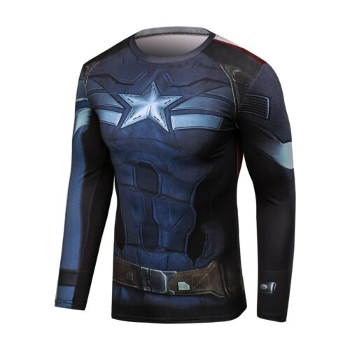 Details about  /Mens Cody Lundin Avergers Captain America Fitness Sports cycling Running T-Shirt