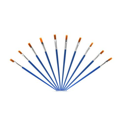 10X Pinsel Set Neue Nylon Blau Pinsel Kid Aquarell Zeichnung Malerei ZP