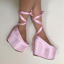 SUPER RARE YRU DollsKill Pink Ballet Bae Platform Shoes Size 7