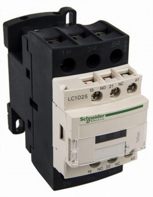 Contacteur avec contacts 2 N//O 2 N//F 230 V  Schneider LC1D128P7 25 A