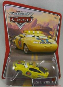 New-Disney-Pixar-World-of-CARS-Charlie-Checker-Diecast-WOC-65-Vehicle-Toy