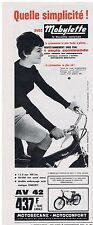 PUBLICITE ADVERTISING 044 1964 MOBYLETTE la bicyclette motorisée