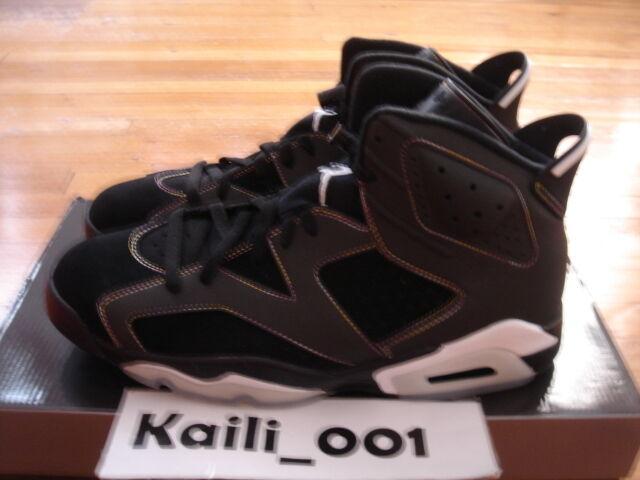 Nike Air Jordan 6 Retro VI Size 12 Lakers Black Infrared Pack bluee DB OG A