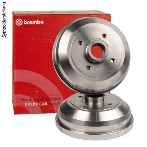 2x BREMBO Bremstrommel Hinten 14.6755.10