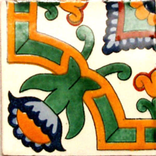 C#068 MEXICAN TILE SAMPLE WALL FLOOR TALAVERA MEXICO CERAMIC HANDMADE POTTERY