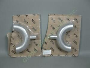 2-NEW-Pair-316L-Stainless-Steel-O-039-Brien-2-034-x1-034-Inch-Return-Reducing-Bottom-Outlet