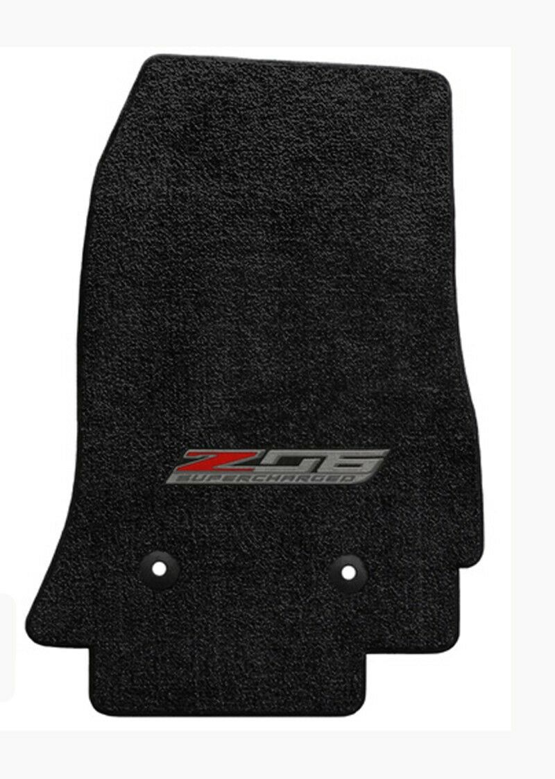 NEW Black Floor Mats 2014-2019 CORVETTE Z06 Supercharged Logo Embroidered 3pc