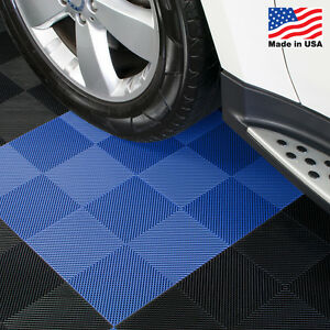 Garage Tiles | Drain Tiles Blue - Made In the USA