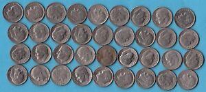 USA-1966-2002-36-stueck-Roosevelt-Dime-Kupfer-Nickel-Muenze
