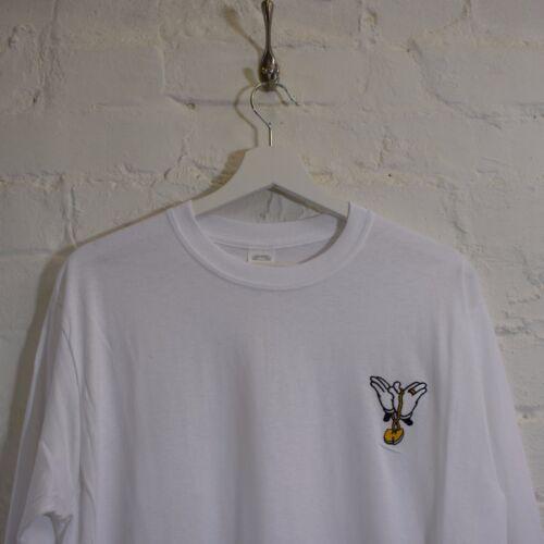 Wu x Mickey Chain Wu Tang Clan White Hip Hop Long Sleeve Tee T-shirt by AF