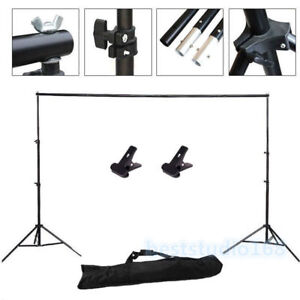 10Ft Adjustable Background Support Stand Photo Backdrop Crossbar Kit Photography 608819353661