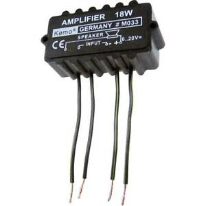 Amplificateur-Mono-kit-monte-Kemo-M033N-9-V-DC-12-V-DC-18-V-DC-20-V-DC-18