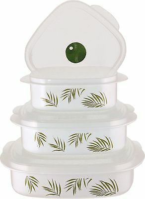 Corelle Coordinates Bamboo Leaf 6-Piece Microwave Cookware and Storage Set New