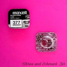 3x Maxell 377 Uhren Batterie Knopfzelle SR626SW AG4 Silberoxid Blisterware Neu