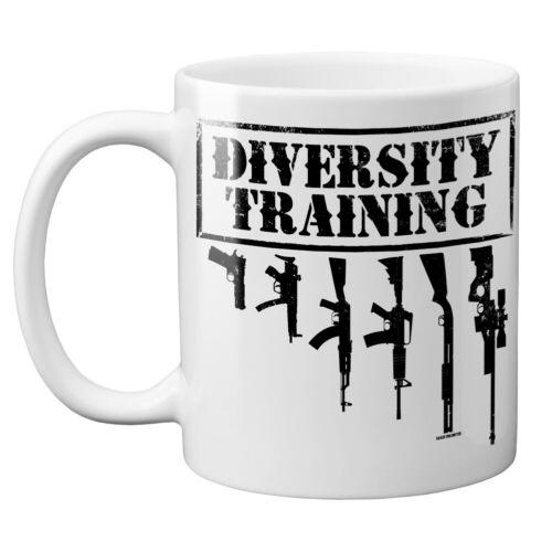 Diversity Training Pro Gun Trump MAGA 2nd Amendment Rights Bear Arms 11oz Mug
