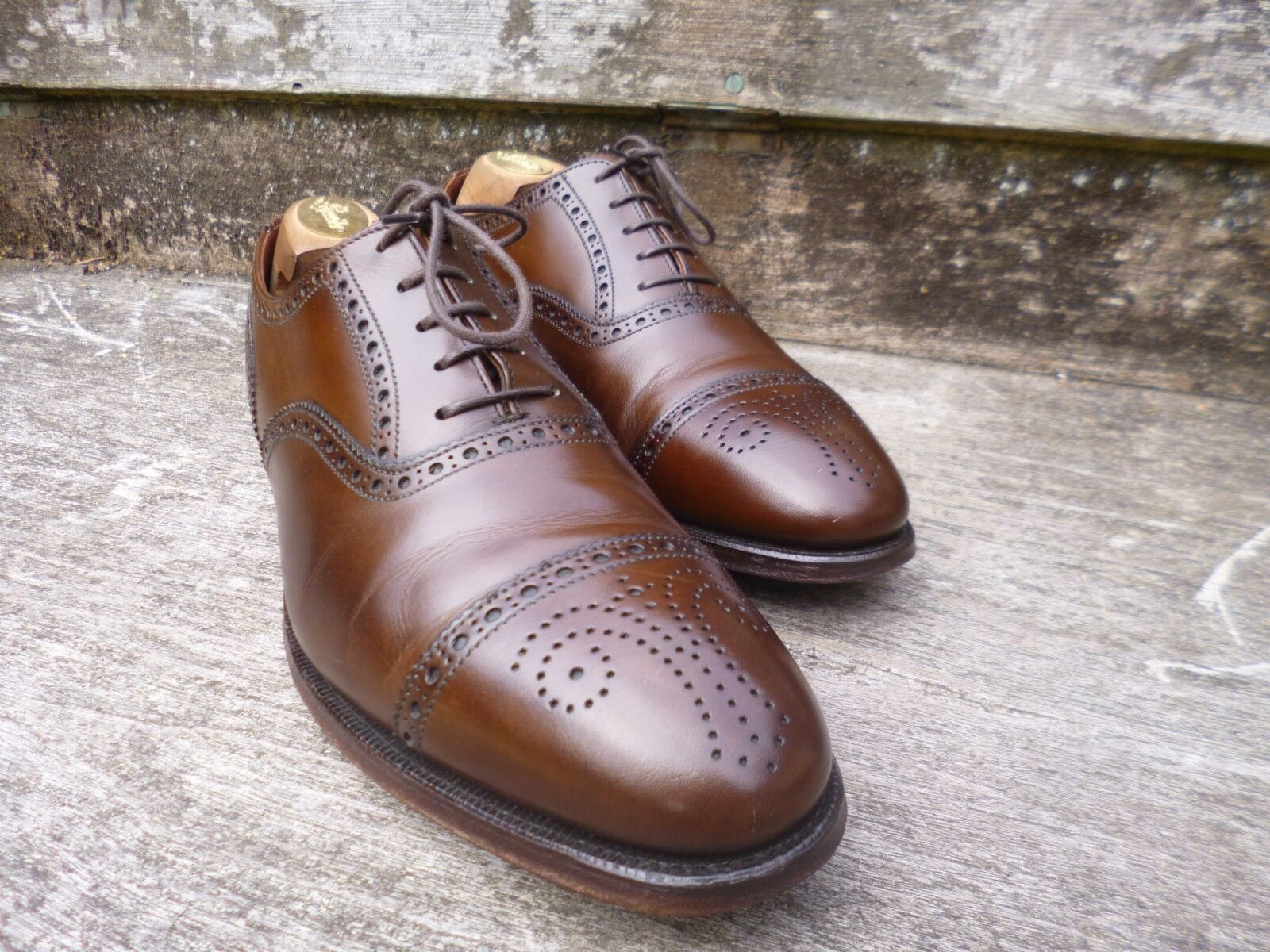 CROCKETT & JONES BROGUES – BROWN - UK UK - 8.5 –  COVENTRY - EXCELLENT CONDITION e62d0b