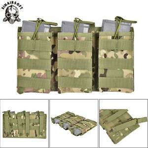 Tactical-Triple-5-56-223-Rifle-Magazine-Pouch-Open-Top-MOLLE-Holster-Ammo-Bag