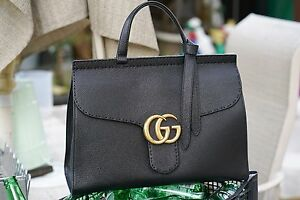 1646fd291d20cb ✨❗ New Authentic $2500 Gucci GG Marmont Leather Top Handle Bag ...