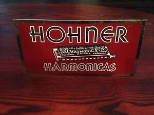 1930-039-s-HOHNER-HARMONICA-Counter-Display-advertisement-sign-MADE-IN-CANADA