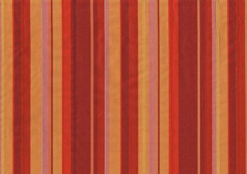Softline Fabric Colchester Poly Silk Burgundy Red Gold Lavender Stripe Drapery