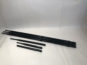 "Lot Of 6 TNC Antennas Black 6"" - 24"" Length Screw Tight Connectors"