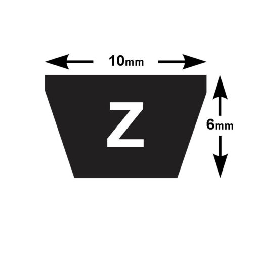 Z Section V Belt 10mm x 6mm Z15-Z29.5 Vee Belt VBELT