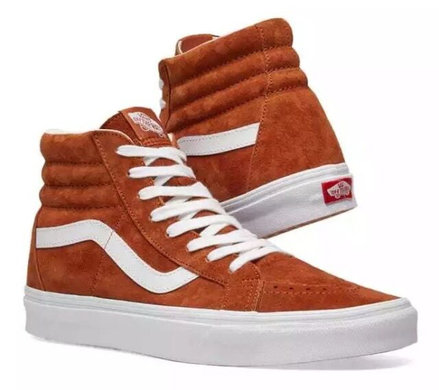 5f2009cc06 VANS Sk8 Hi Reissue Pig Suede Leather Brown Men s Skate Shoes Size ...