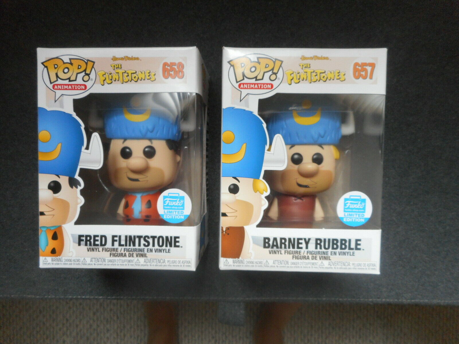 FUNKO POP Exclusive Fred Flintstone & Barney Rubble(2-Pack Bundle) w  PredECTOR