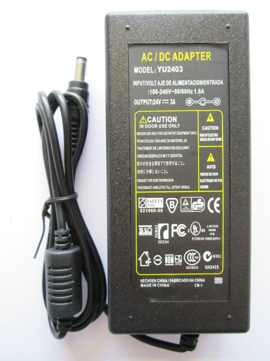 24V 2.5A AC-DC Switching Adapter for SANDSTROM SIPD8012 iPod iPhone Speaker Dock