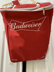 Budweiser-Cooler-Beer-Soda-Backpack-Red-24-Cans-Insulated-Bag-Like-New